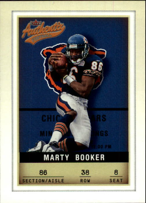 2002 Fleer Authentix #38 Marty Booker