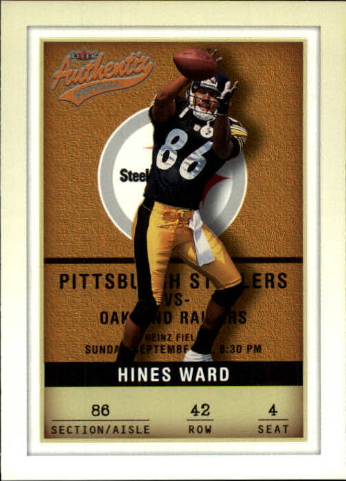 2002 Fleer Authentix #42 Hines Ward