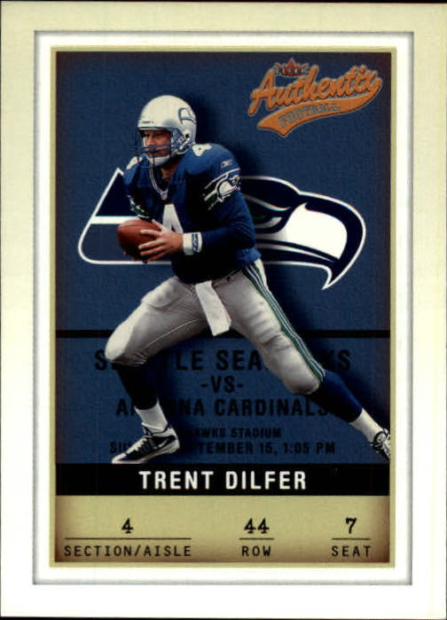 2002 Fleer Authentix #44 Trent Dilfer
