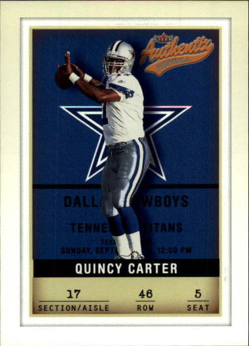 2002 Fleer Authentix #46 Quincy Carter