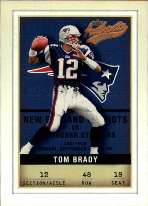 2002 Fleer Authentix #48 Tom Brady
