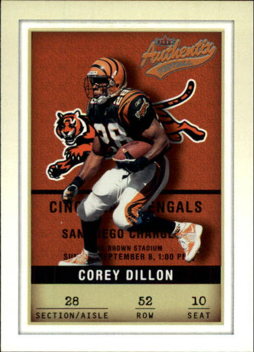 2002 Fleer Authentix #52 Corey Dillon