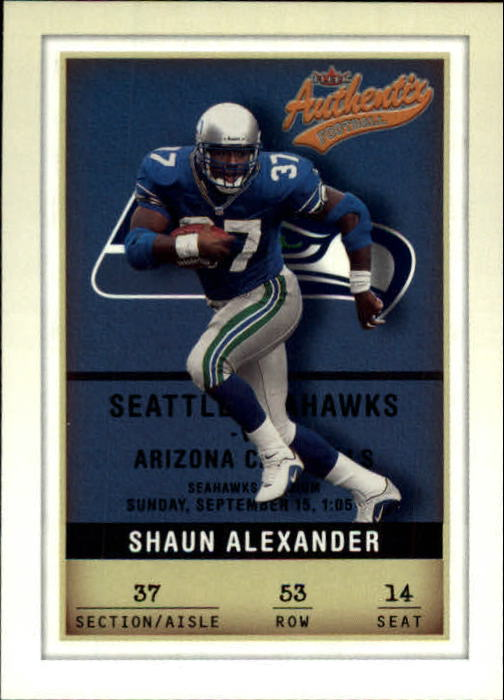 2002 Fleer Authentix #53 Shaun Alexander