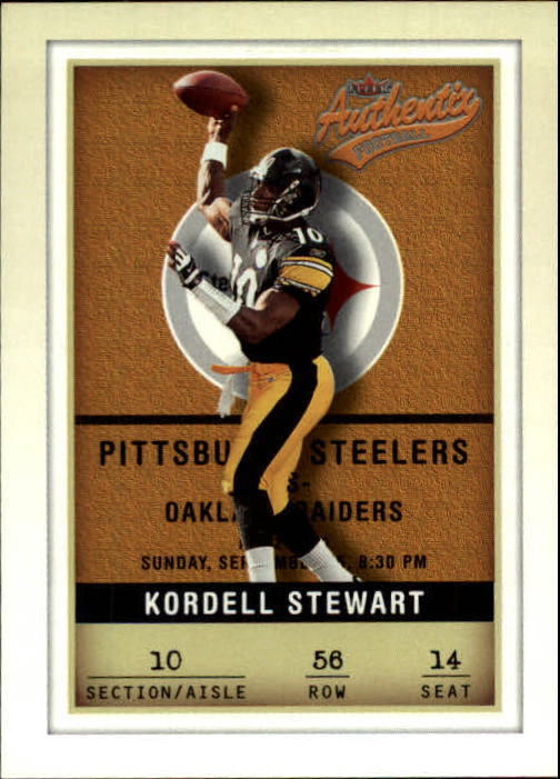 2002 Fleer Authentix #56 Kordell Stewart