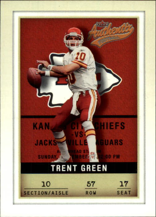 2002 Fleer Authentix #57 Trent Green