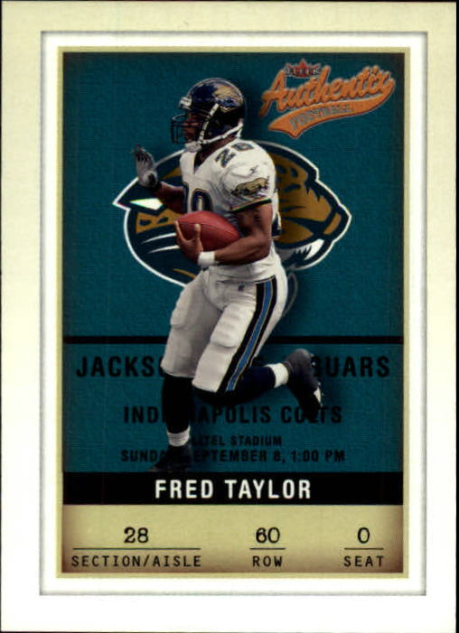 2002 Fleer Authentix #60 Fred Taylor