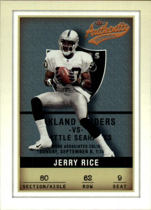 2002 Fleer Authentix #62 Jerry Rice