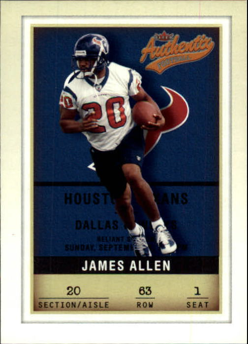 2002 Fleer Authentix #63 James Allen