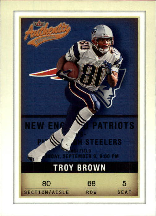 2002 Fleer Authentix #68 Troy Brown