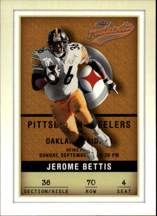 2002 Fleer Authentix #70 Jerome Bettis