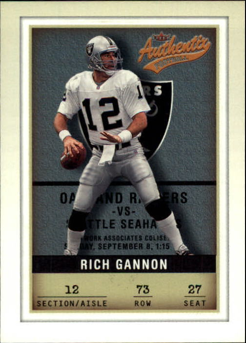 2002 Fleer Authentix #73 Rich Gannon