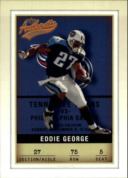 2002 Fleer Authentix #75 Eddie George
