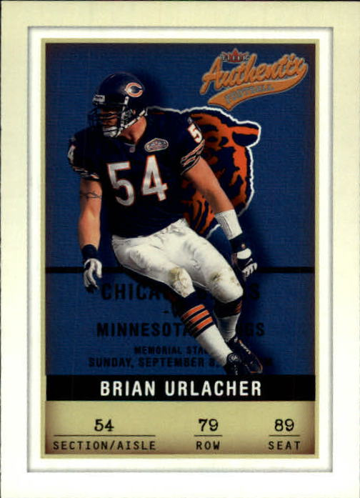 2002 Fleer Authentix #79 Brian Urlacher
