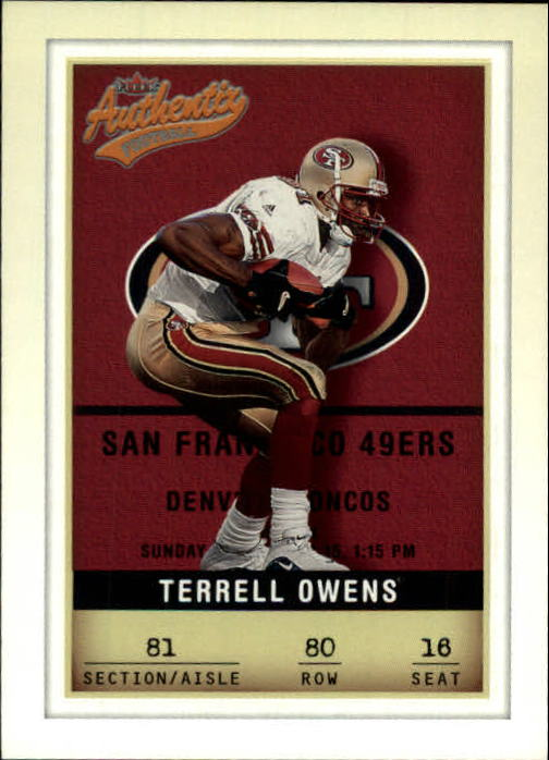 2002 Fleer Authentix #80 Terrell Owens
