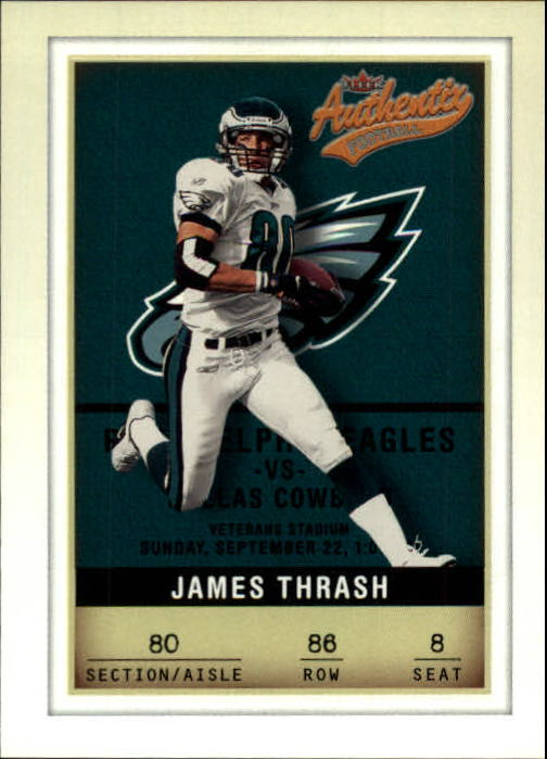 2002 Fleer Authentix #86 James Thrash