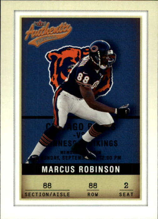 2002 Fleer Authentix #88 Marcus Robinson