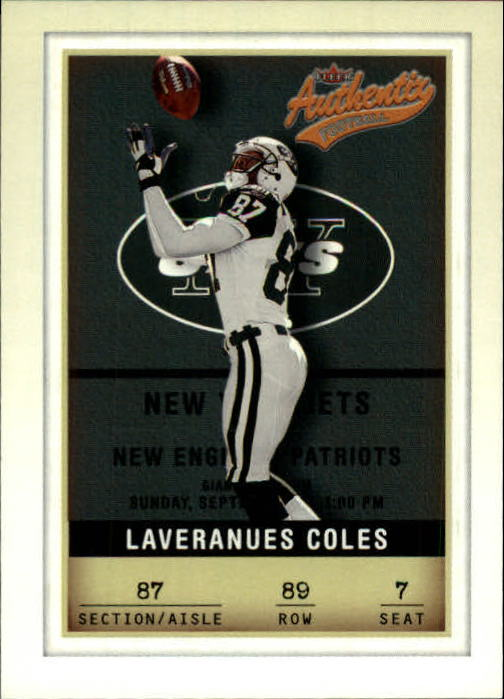 2002 Fleer Authentix #89 Laveranues Coles