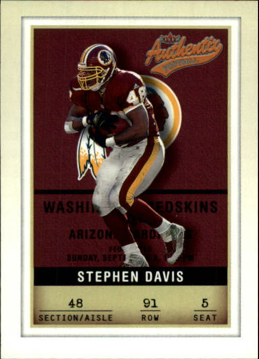 2002 Fleer Authentix #91 Stephen Davis