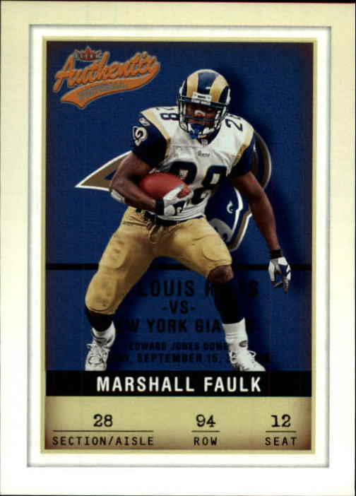2002 Fleer Authentix #94 Marshall Faulk
