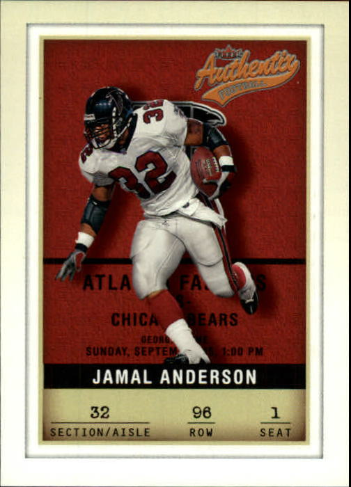 2002 Fleer Authentix #96 Jamal Anderson