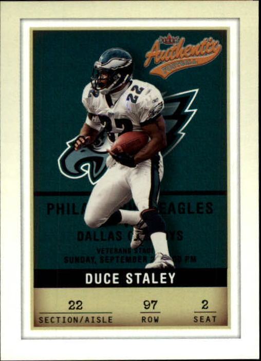 2002 Fleer Authentix #97 Duce Staley