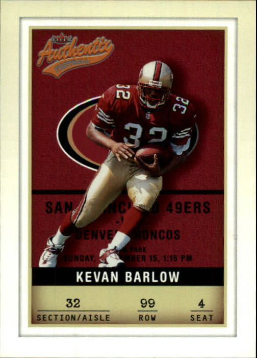 2002 Fleer Authentix #99 Kevan Barlow