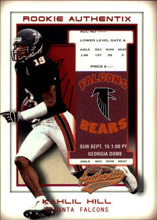 2002 Fleer Authentix #132 Kahlil Hill RC