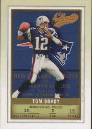 2002 Fleer Authentix Second Row #48 Tom Brady
