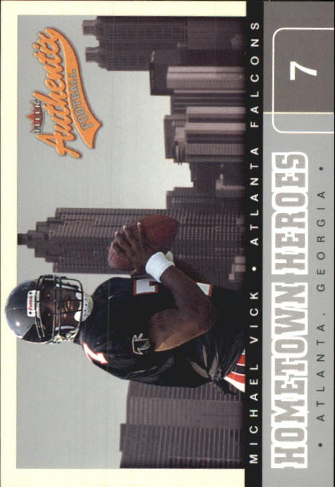 2002 Fleer Authentix Hometown Heroes #1 Michael Vick front image