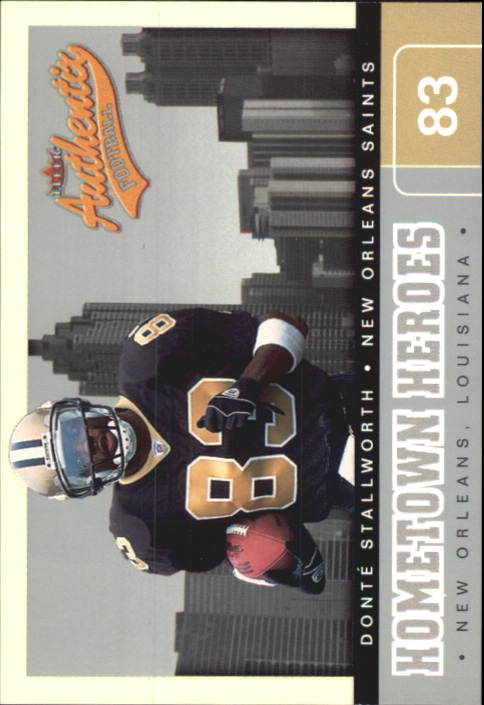 2002 Fleer Authentix Hometown Heroes #3 Donte Stallworth