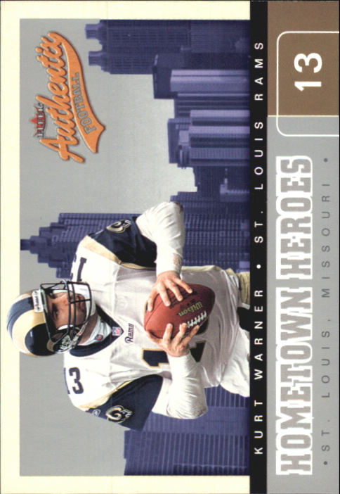 2002 Fleer Authentix Hometown Heroes #10 Kurt Warner