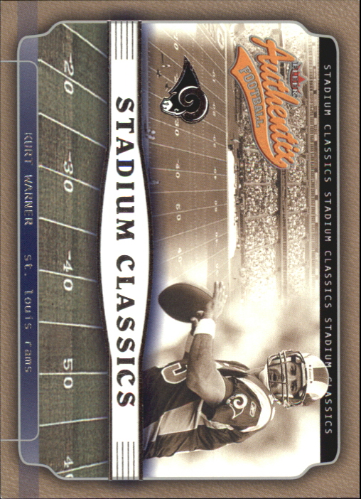 2002 Fleer Authentix Stadium Classics #6 Kurt Warner