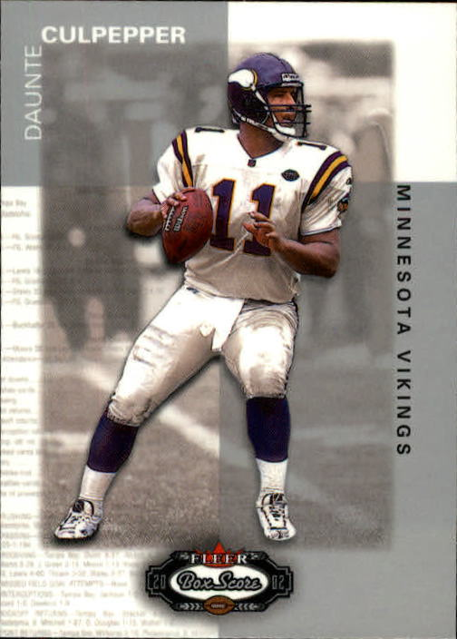 2002 Fleer Box Score #8 Daunte Culpepper
