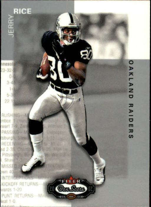 2002 Fleer Box Score #11 Jerry Rice