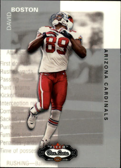 2002 Fleer Box Score #16 David Boston