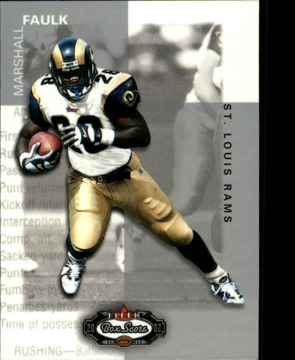 2002 Fleer Box Score #21 Marshall Faulk