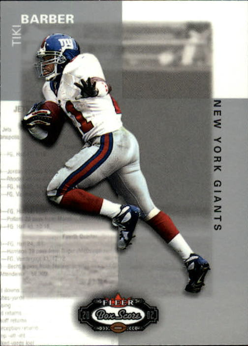 2002 Fleer Box Score #48 Tiki Barber