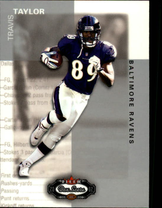 2002 Fleer Box Score #60 Travis Taylor