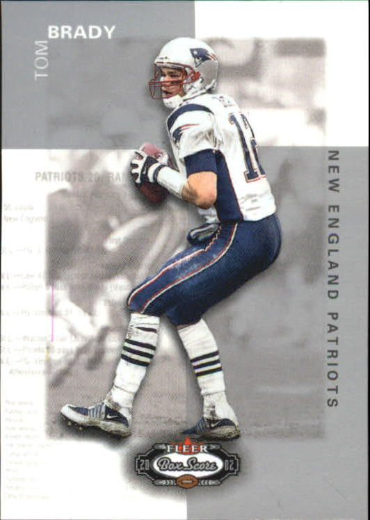 2002 Fleer Box Score Classic Miniatures #22 Tom Brady