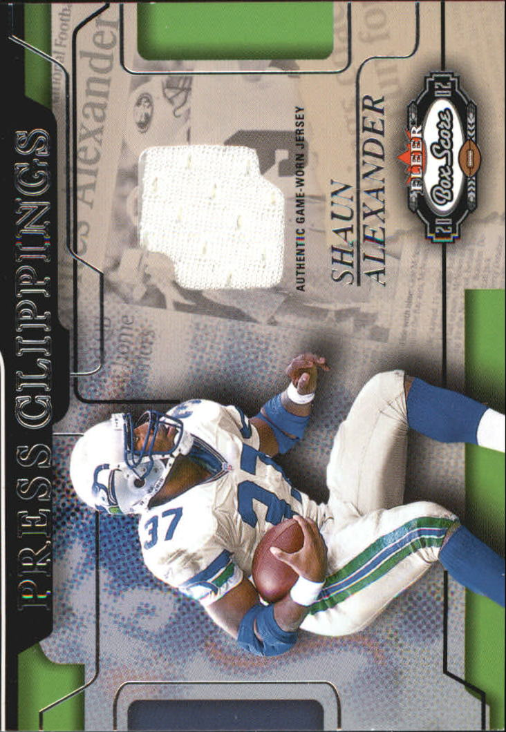 2002 Fleer Box Score Press Clippings Jerseys #1 Shaun Alexander