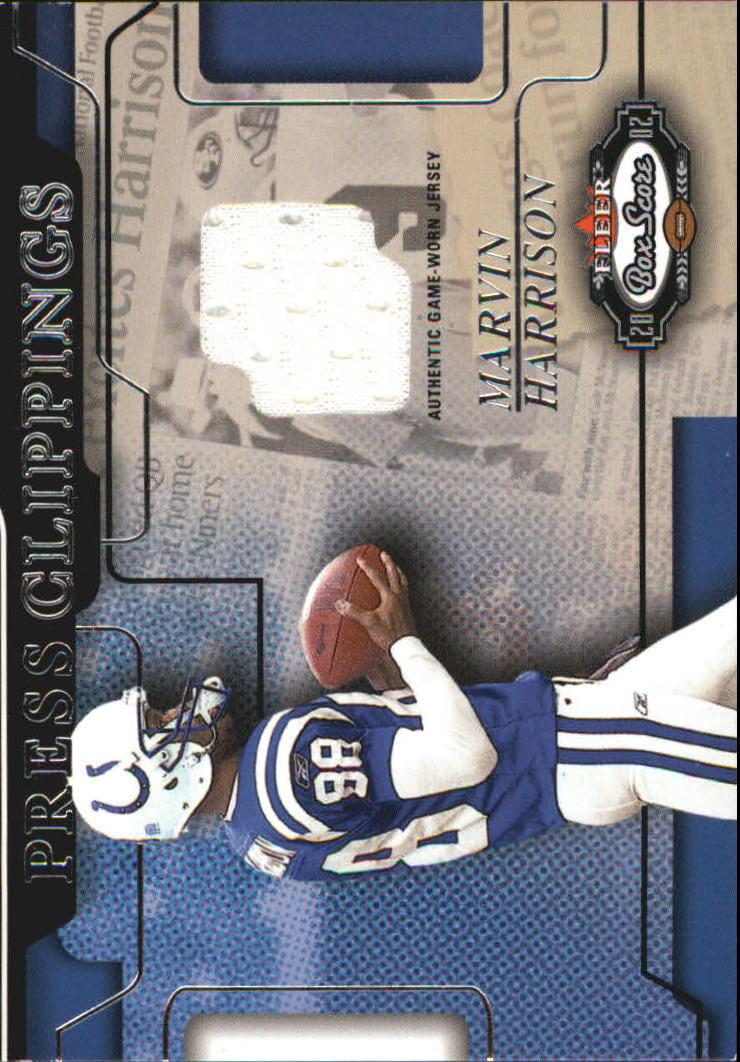 2002 Fleer Box Score Press Clippings Jerseys #5 Marvin Harrison
