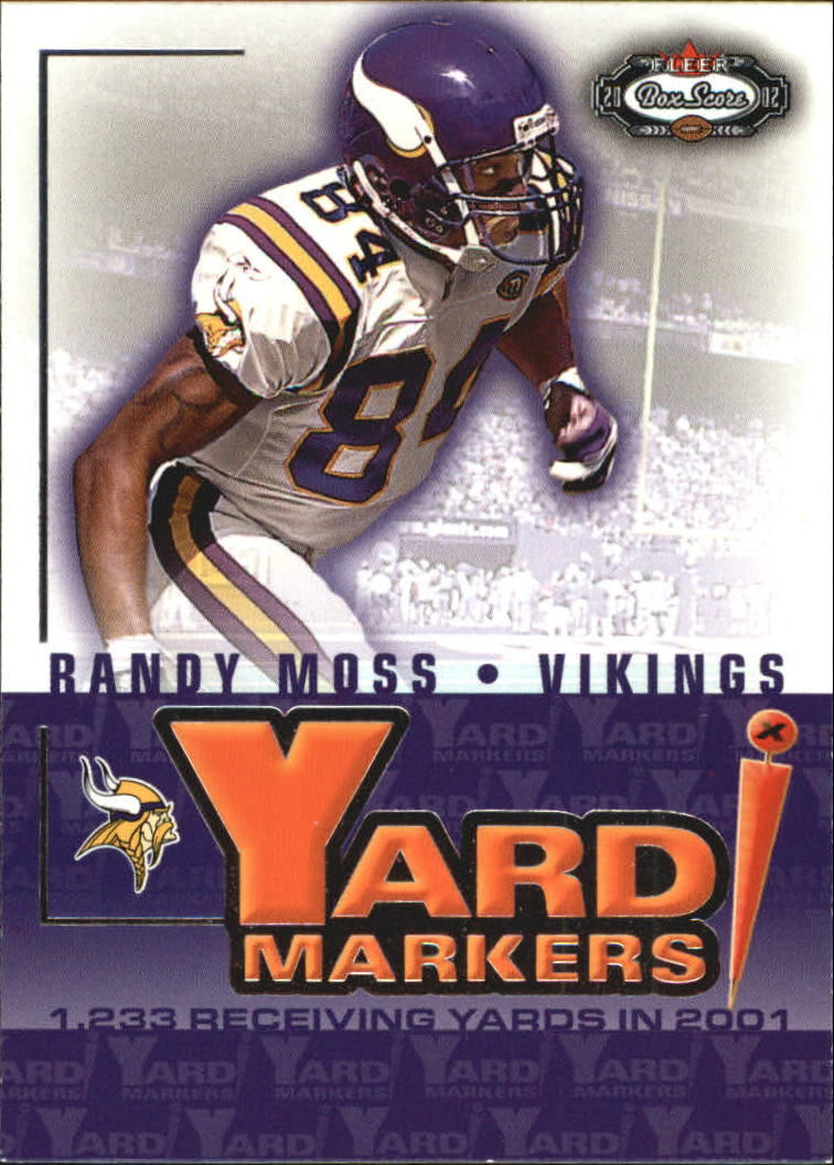 2002 Fleer Box Score Yard Markers #3 Randy Moss