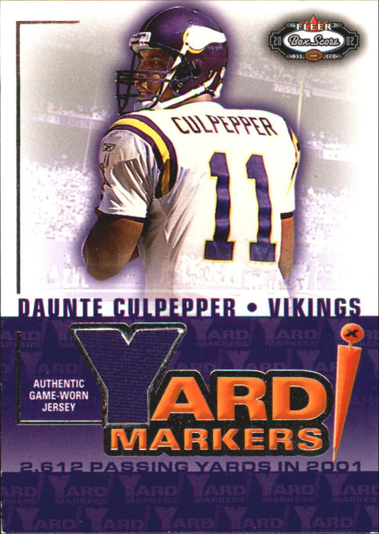 2002 Fleer Box Score Yard Markers Jerseys #4 Daunte Culpepper