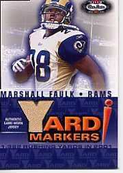 2002 Fleer Box Score Yard Markers Jerseys #5 Marshall Faulk