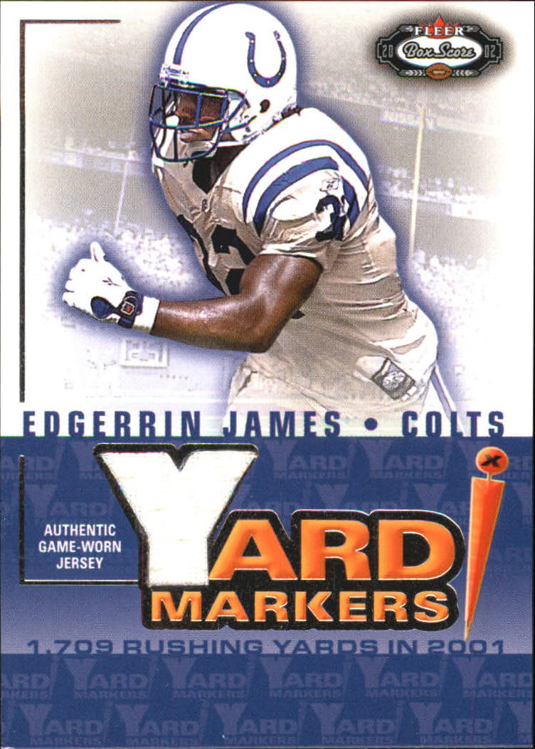 2002 Fleer Box Score Yard Markers Jerseys #11 Edgerrin James