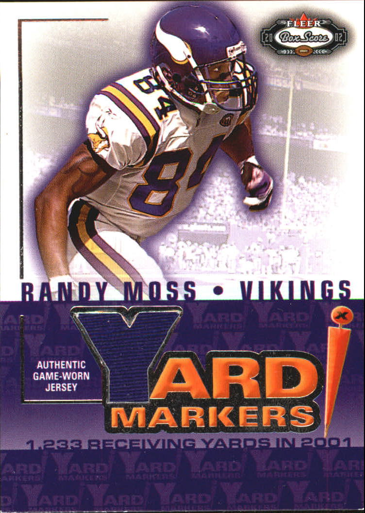 2002 Fleer Box Score Yard Markers Jerseys #15 Randy Moss