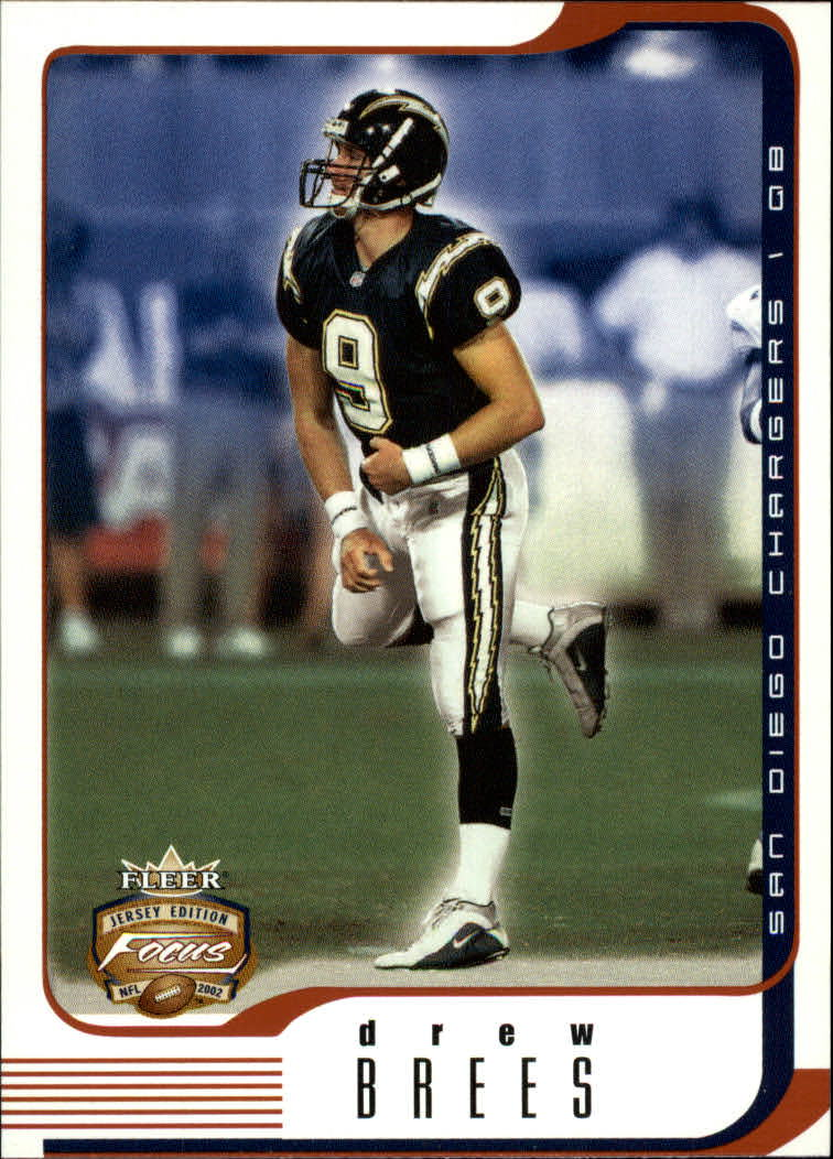 2002 Fleer Focus JE #24 Drew Brees