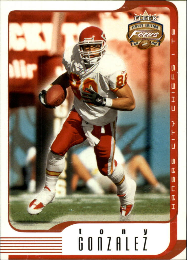 2002 Fleer Focus JE #25 Tony Gonzalez