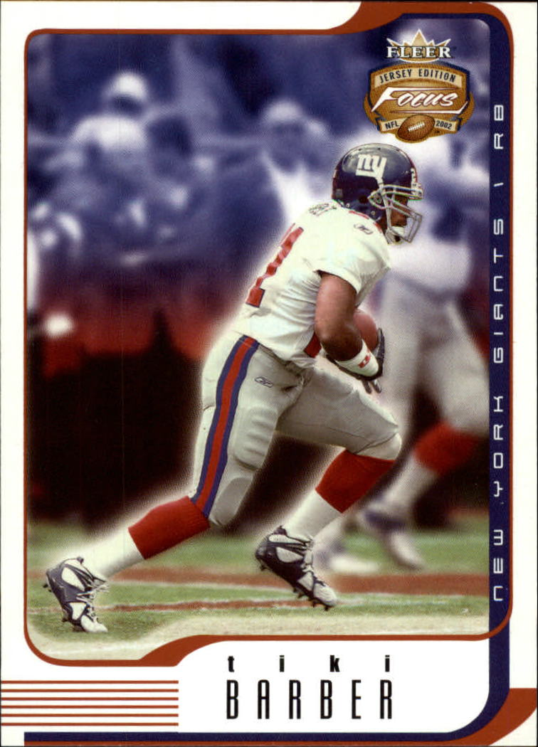 2002 Fleer Focus JE #62 Tiki Barber