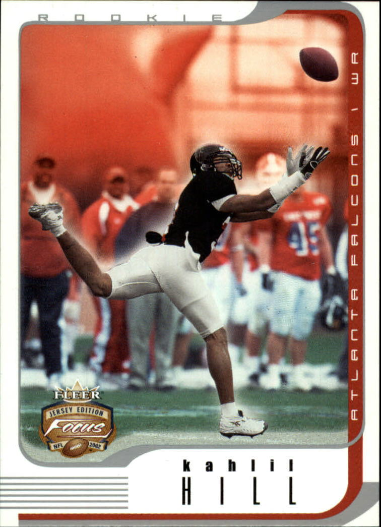 2002 Fleer Focus JE #152 Kahlil Hill RC